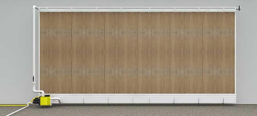Evaporative Cooling Pads : Pad klima system lubing